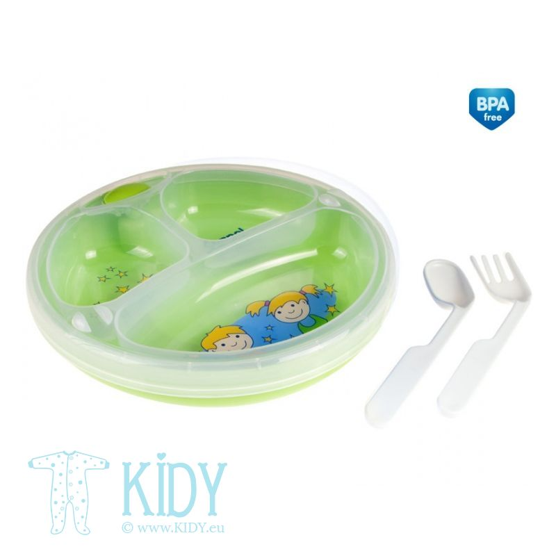 Food warmer plate with cutlery (Canpol Babies) 2