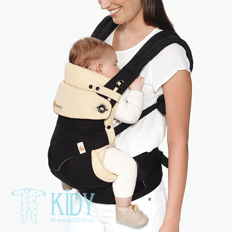 Baby carrier with insert ALL POSITION 360 Black/Camel (ErgoBaby) 2