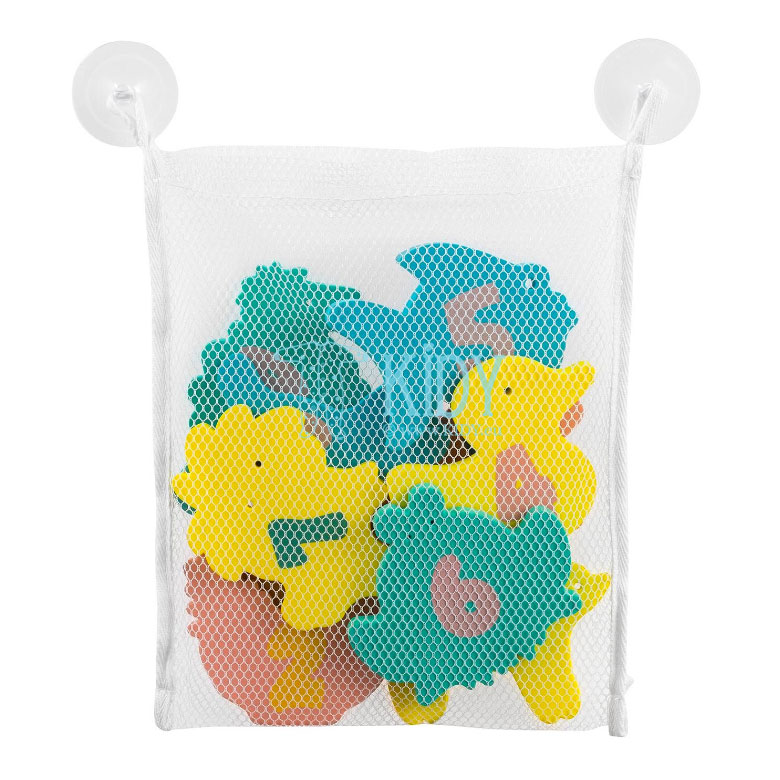 PLAY & LEARN toys for bath with bag (ClevaMama) 2