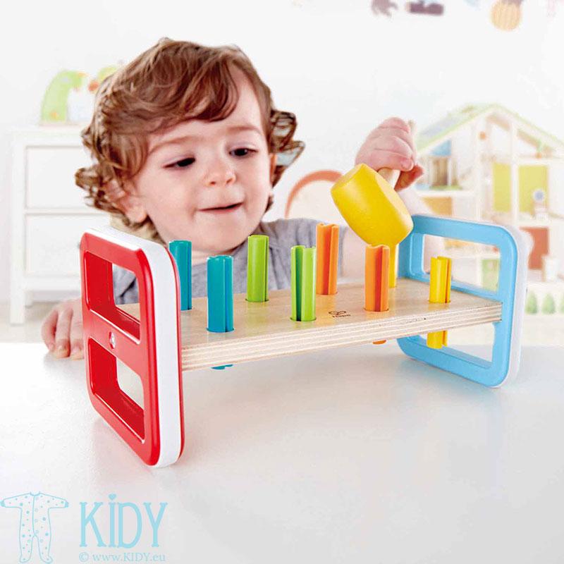 Lavinantis žaislas Spalvingas grūstuvėlis (Hape) 2