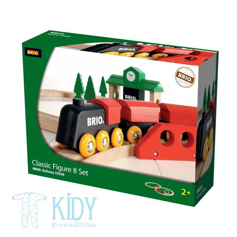 Traukinių rinkinys medinis, 8 dalys (Brio) 2