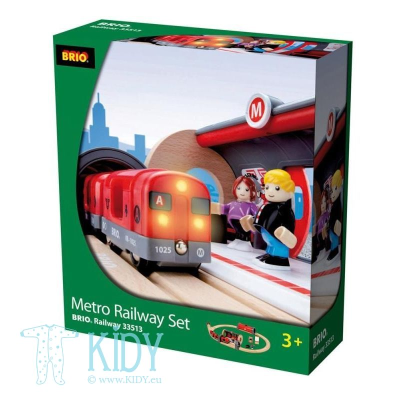 Rinkinys su traukinio bėgiais Metro railway