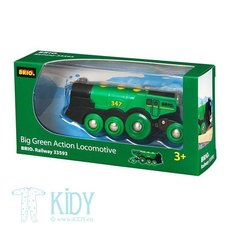 Большой зеленый локомотив (Brio) 2