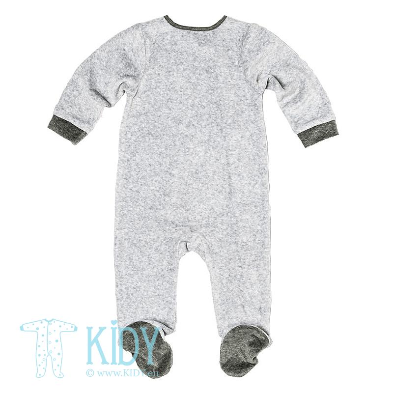 Pilkas kombinezonas-pižama BEAR su kepurytė (Babaluno) 2