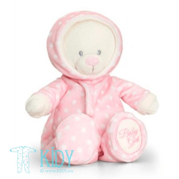 Pink baby bear ROMPERSUIT