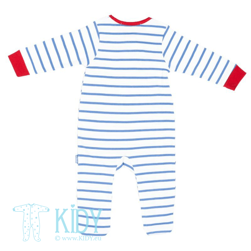 Blue TRANSPORT sleepsuit with hat (Babaluno) 2