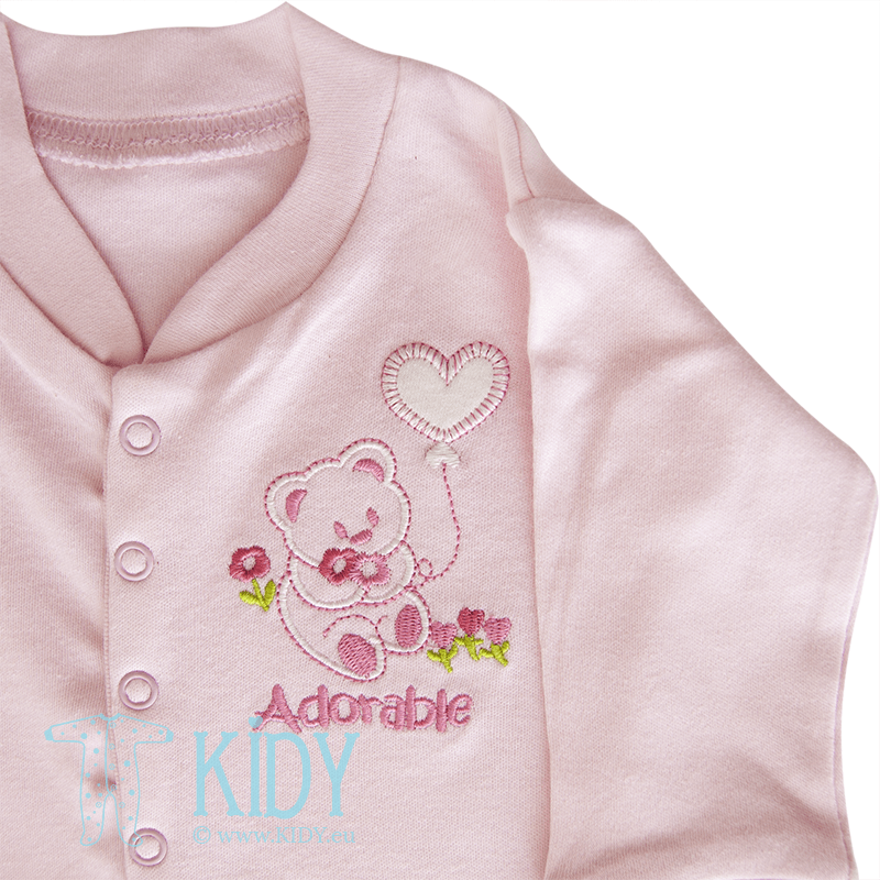 Pink sleepsuit ADORABLE BABY (Nursery Time) 2