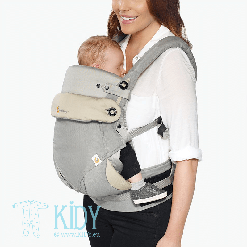 Baby carrier with insert ALL POSITION 360 Grey (ErgoBaby) 2