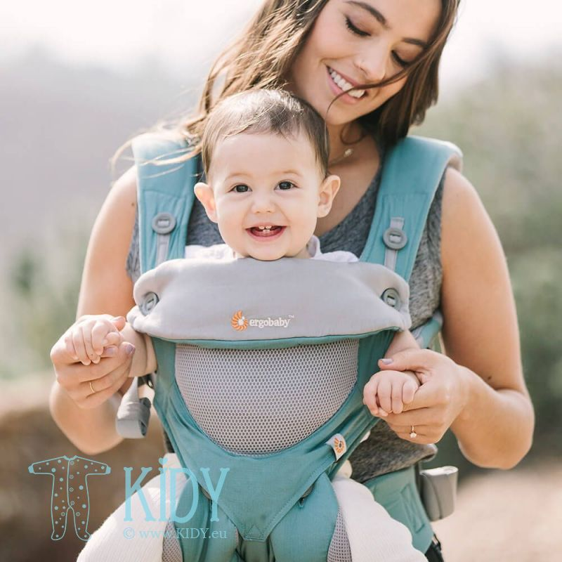 Baby carrier ALL POSITION 360 Cool Air Icy mint (ErgoBaby) 2