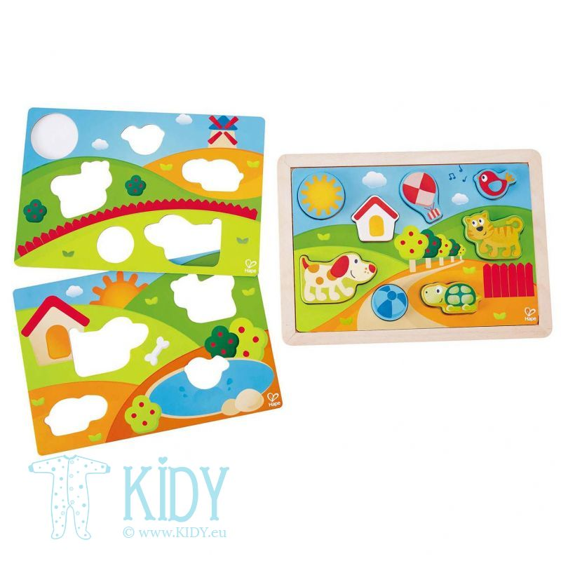 SUNNY VALLEY puzzle (3 in 1) (Hape) 2