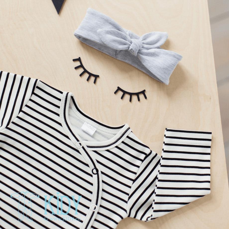 Striped HAPPY DAY kimono bodysuit (Pinokio) 2