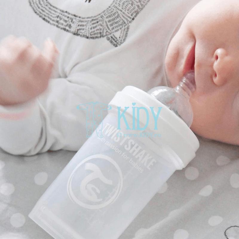 Baltas buteliukas ANTI-COLIC WHITE (Twistshake) 2