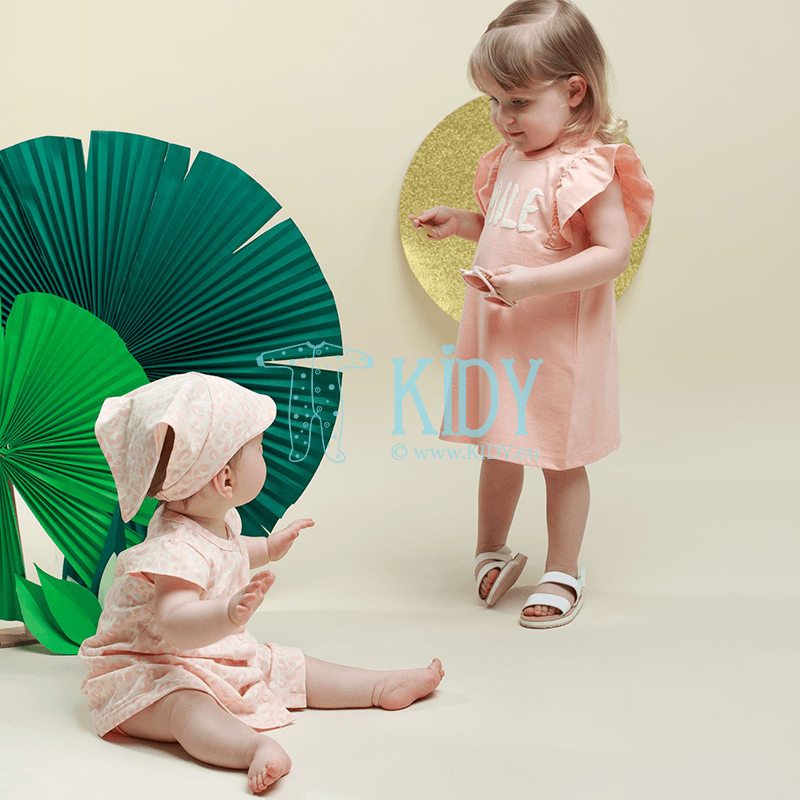 Розовое платьице SWEET PANTHER с короткими рукавами (Pinokio) 2