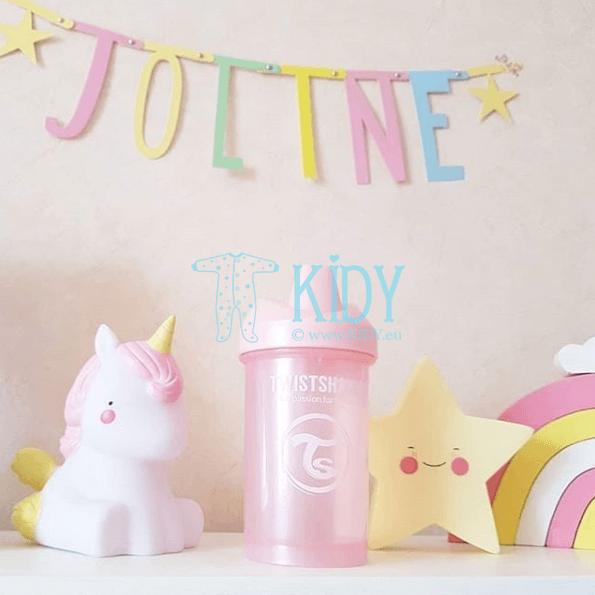 Rožinė gertuvė SIPPY CUPS CRAWLER LIGHT PINK (Twistshake) 2