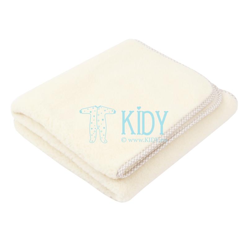 Vaiška merino vilnos antklodė VANILLA (Flokati) 2