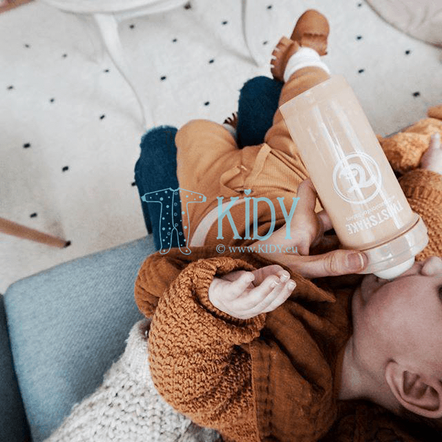 Beige ANTI-COLIC feeding bottle (Twistshake) 2