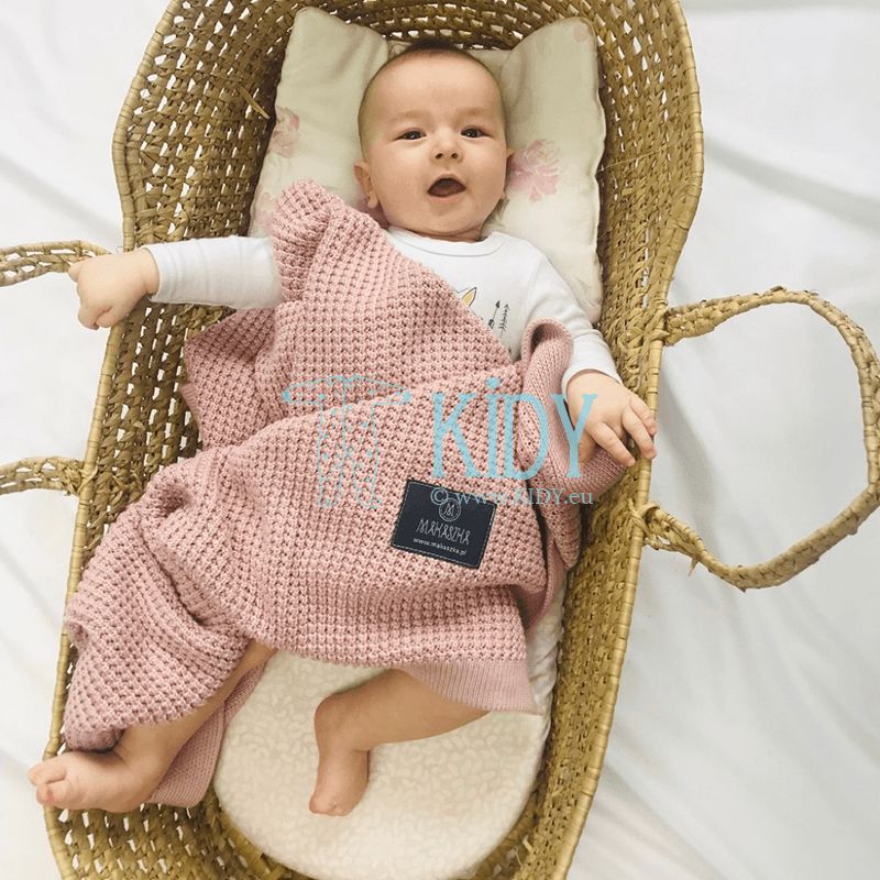 Pink Bambus knitted plaid (MAKASZKA) 2