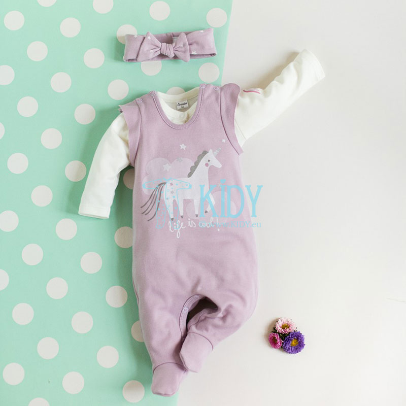 Pink UNICORN dungaree
