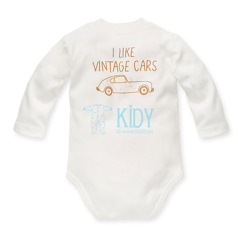 Ecru OLD CARS bodysuit (Pinokio) 2