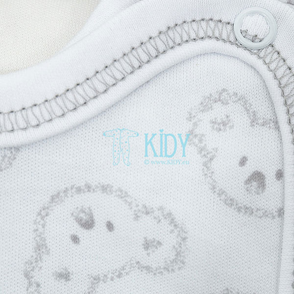 White KOALA easy-shirt with mitts (Lorita) 2