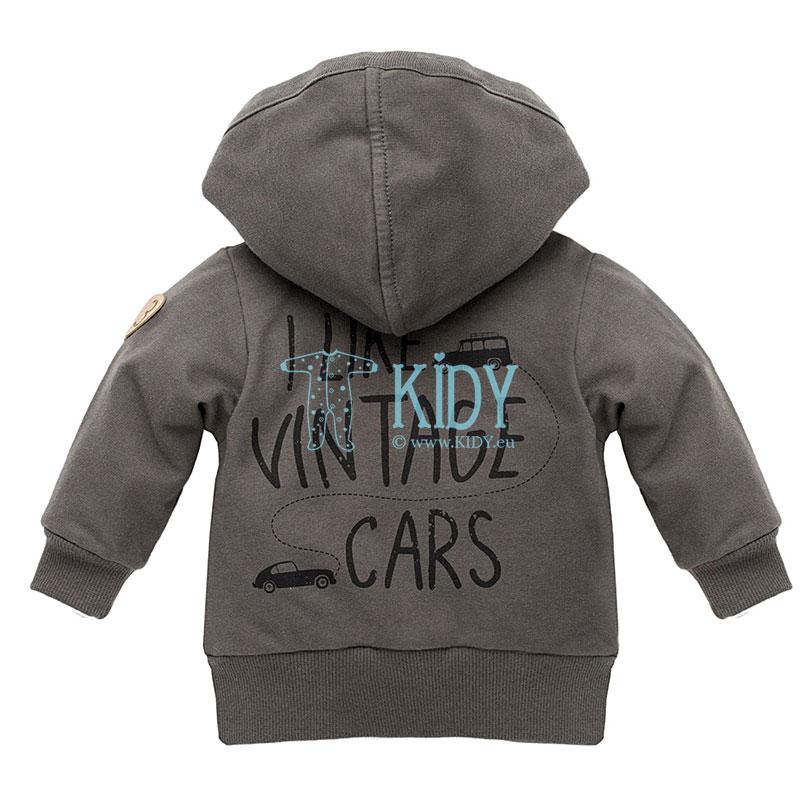 Серый худи OLD CARS (Pinokio) 2