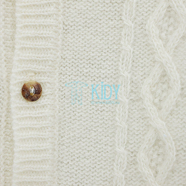 Ecru merino wool PIPPINO overall (Lorita) 2