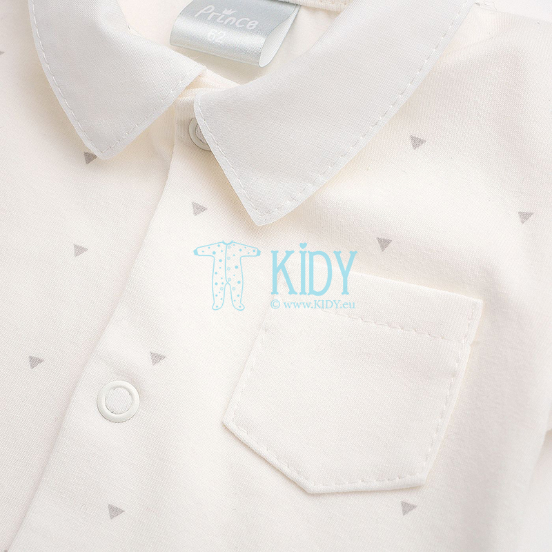 Ecru marškinėliai-bodžiukas PRINCE (Pinokio) 2