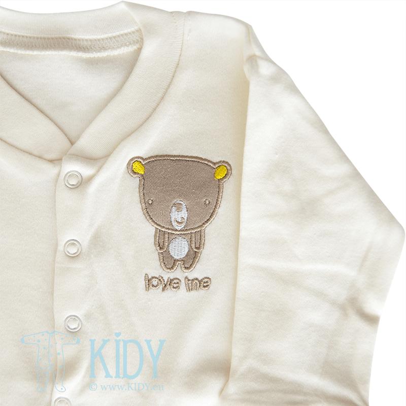 Cream sleepsuit LOVE ME (Nursery Time) 2