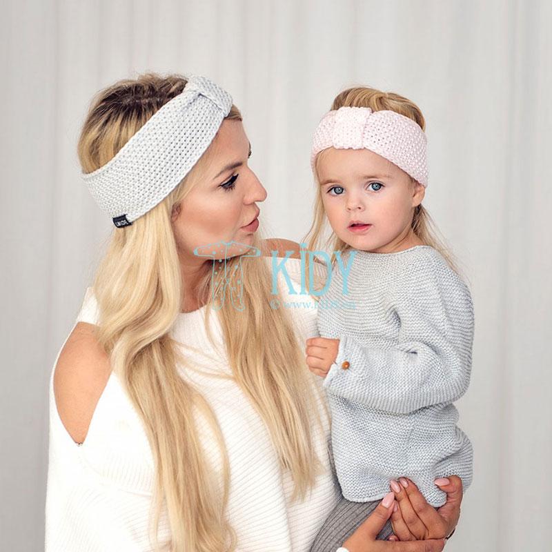 Knitted pink ROYAL LABEL headband (Lullalove) 2