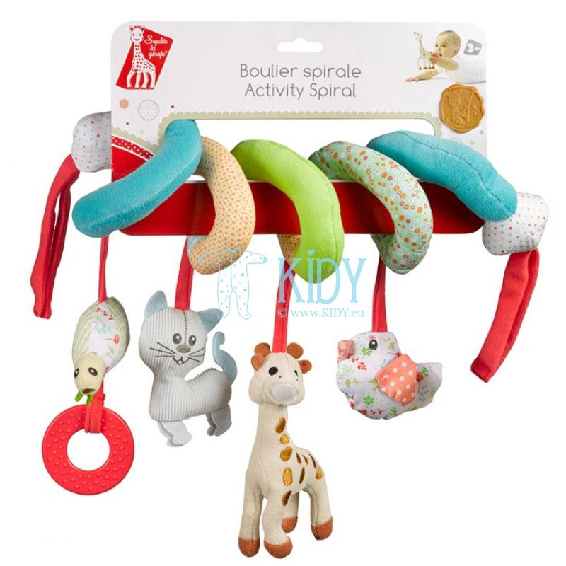 Sophie la girafe žaislas autokėdutei, vežimėliui, lovytei (Vulli) 2