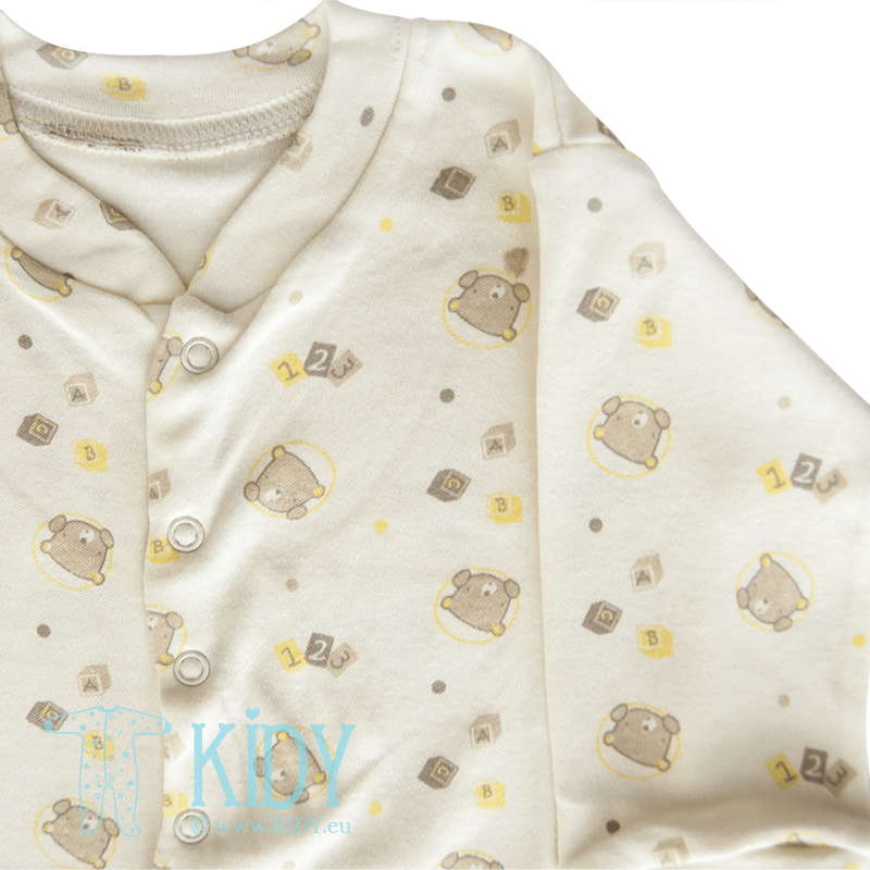 Cream sleepsuit LOVE ME (Nursery Time) 2