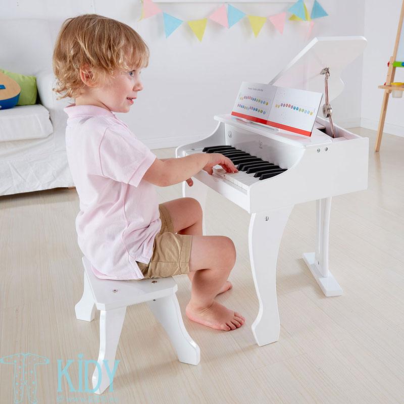 Baltas žaislinis pianinas Deluxe Grand (Hape) 2