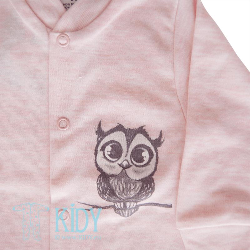 Розовый слип OWL (Zuzia) 2