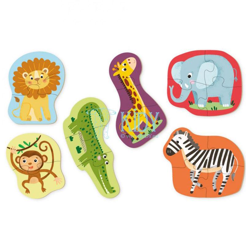 Dėlionių rinkinys Gyvūnai, 6 dėlionės 2-4 dalių (DODO Toys) 2