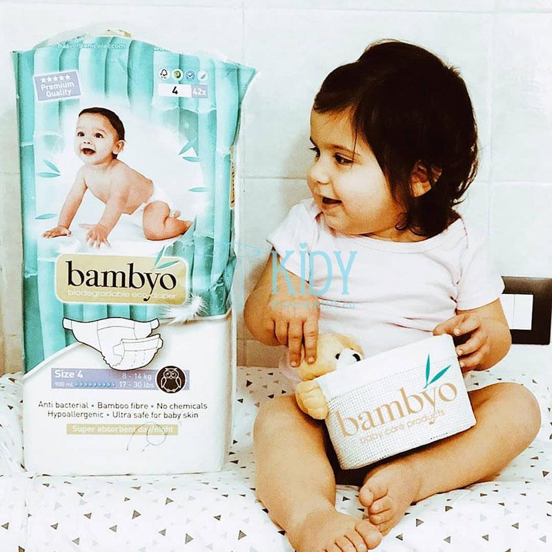 Bambukinės eko sauskelnės BAMBYO №4 kūdikiams (Baby Organic Star) 2