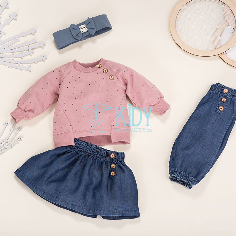 Denim PETIT LOU skirt
