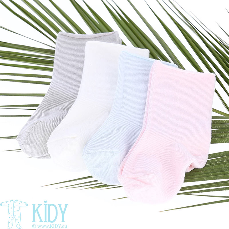 Creamy organic cotton socks