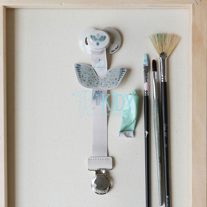 Watercolour Wings Pacifier Clip