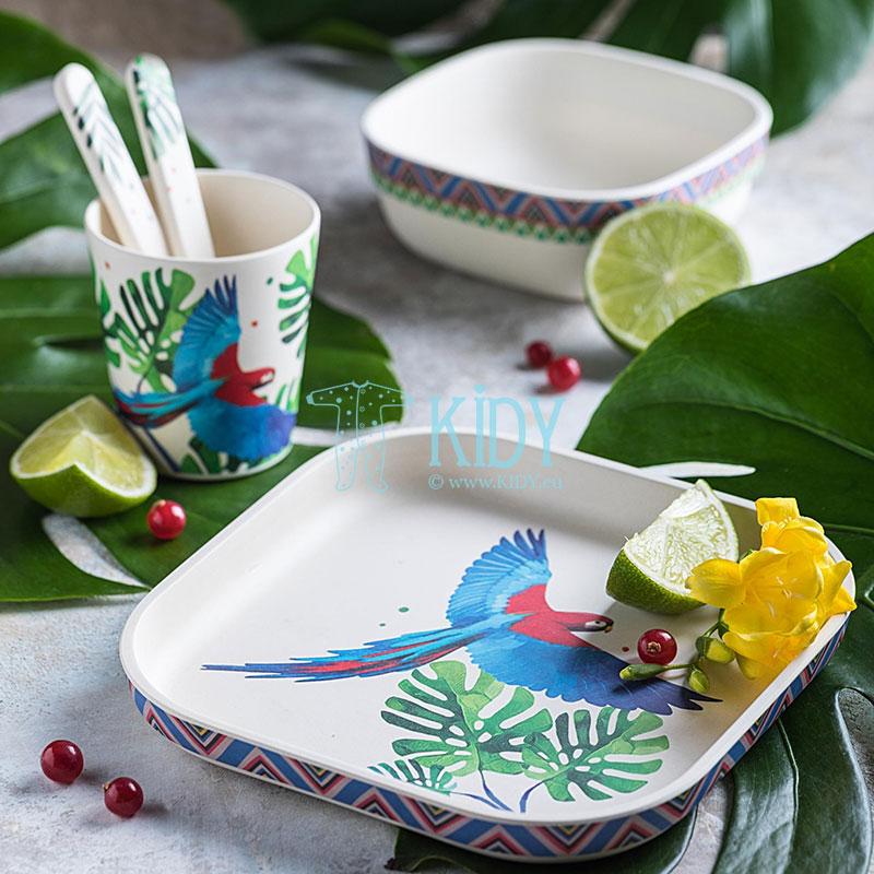 Bambukinių indų rinkinys Feathery Mood