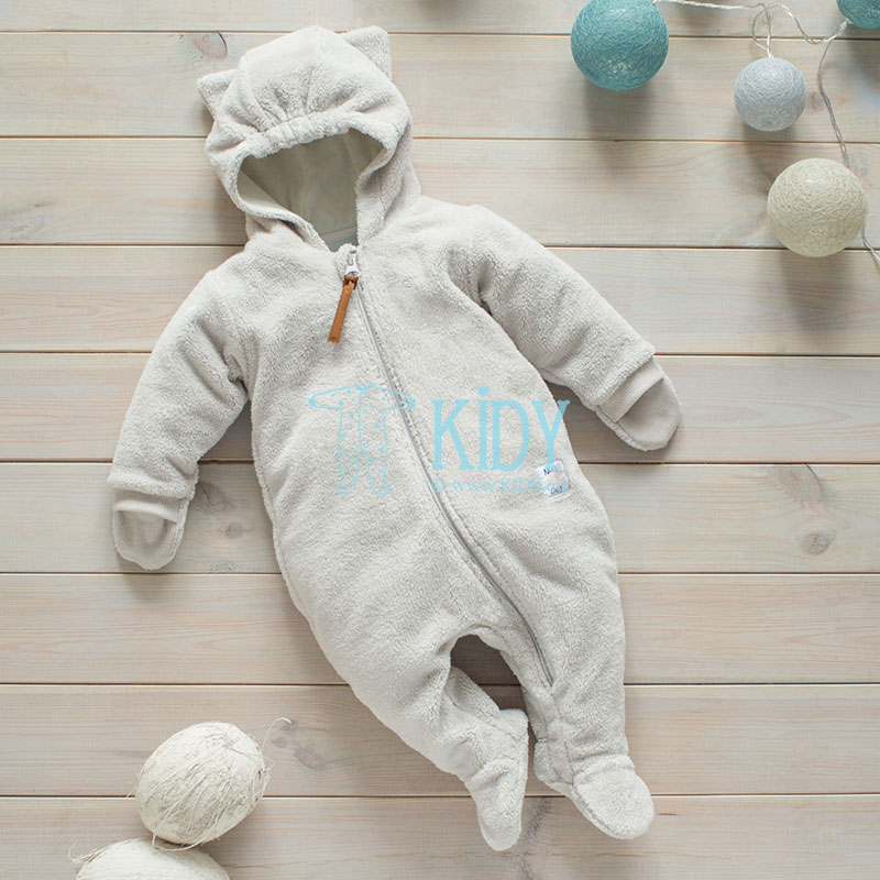 Beige Nice Day snowsuit with mitts