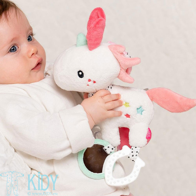 Minkštas žaislas su barškučiu Unicorn (BabyFehn) 2