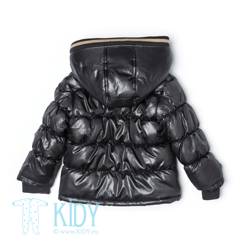 Черная дутая курточка BEAR