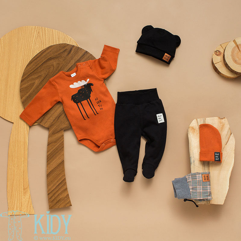 Brown THE BEARS CLUB bodysuit