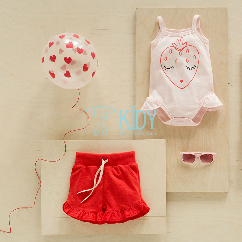 Pink LOVE & LOVE sleeveless tutu bodysuit