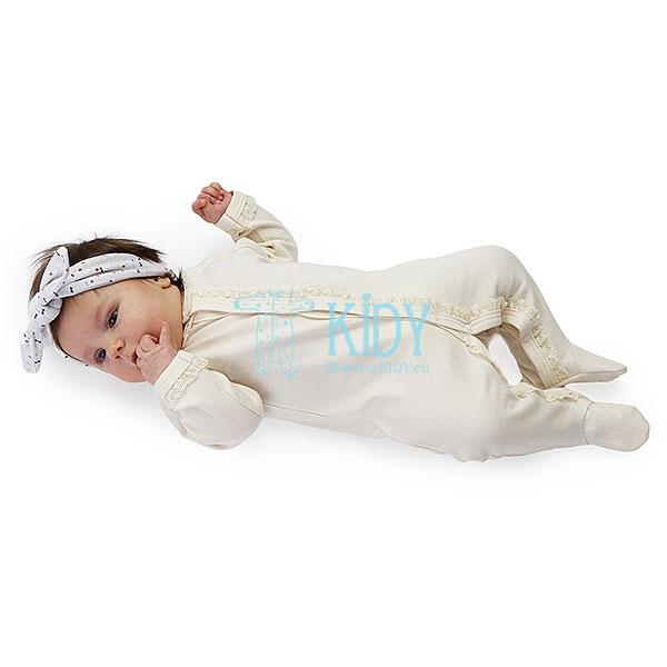 Kreminis kombinezonas-pižama LULU su nėriniu (Lorita) 2