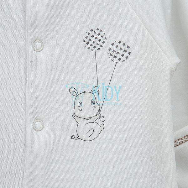 Baltas kombinezonas-pižama HIPPO