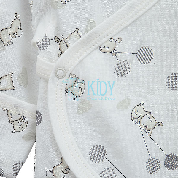 White HIPPO easy-shirt with mitts