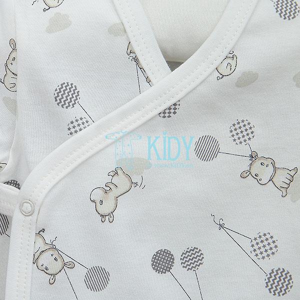 Baltas susiaučiamas smėlinukas HIPPO trumpomis rankovėmis