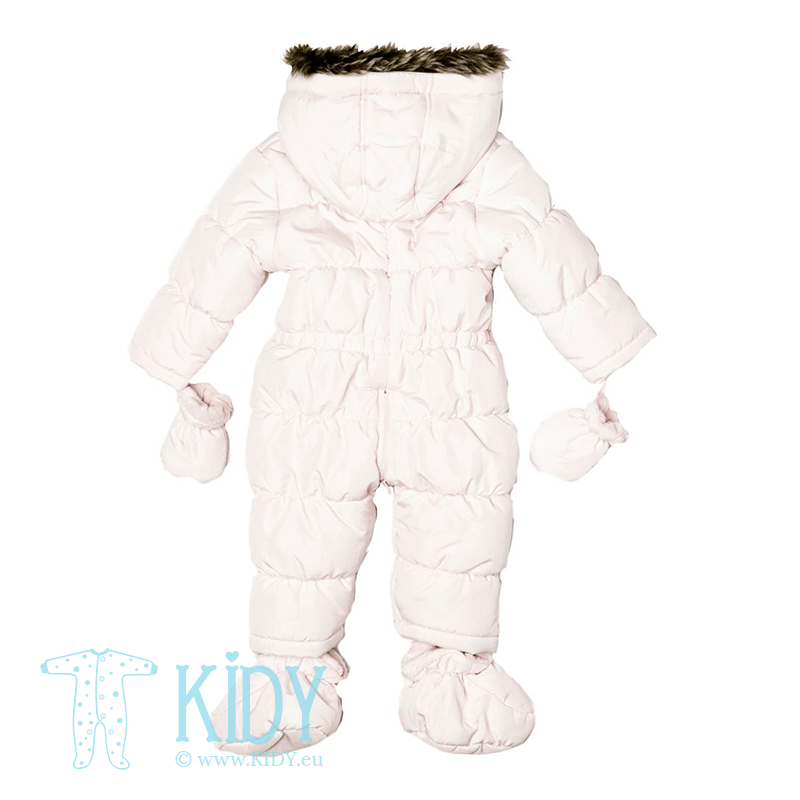 Pink snowsuit MOUSE with mitts and booties (Babaluno) 2