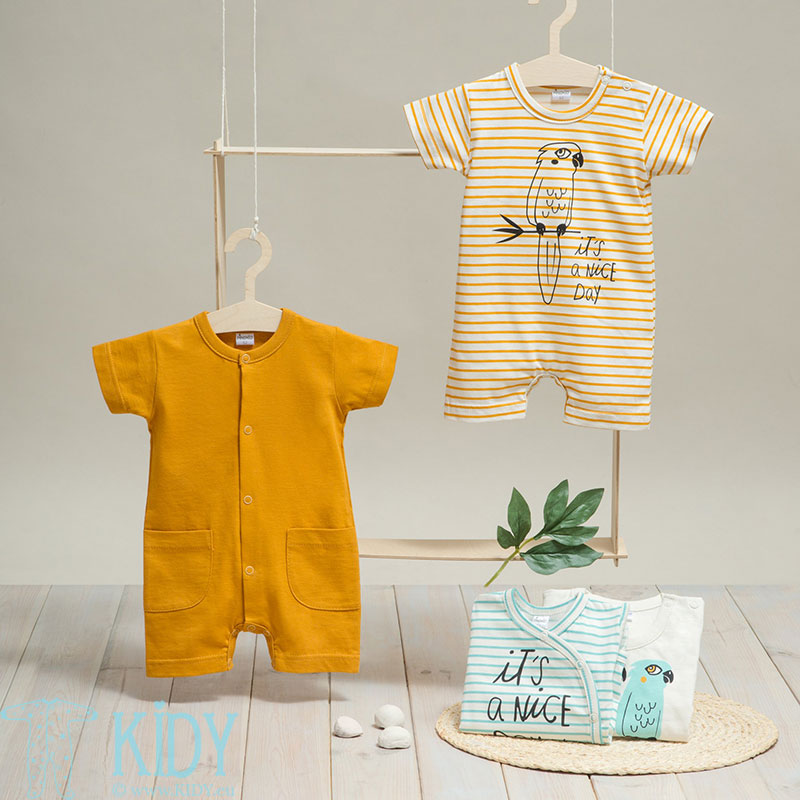 Yellow NICE DAY romper